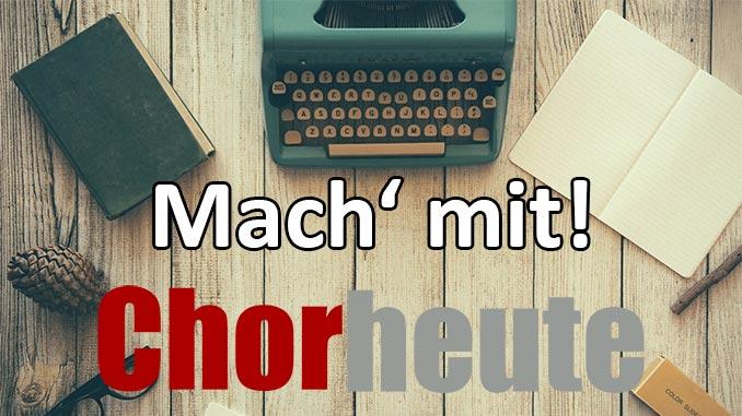 Mitmachen bei chor-heute.de