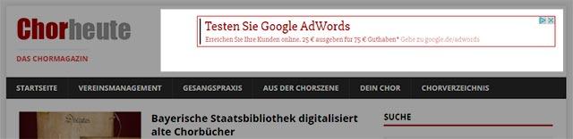 Header Ad chor-heute.de