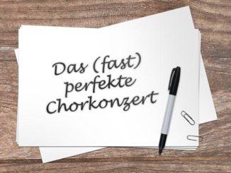 Artikelbild Chorkonzert Planung