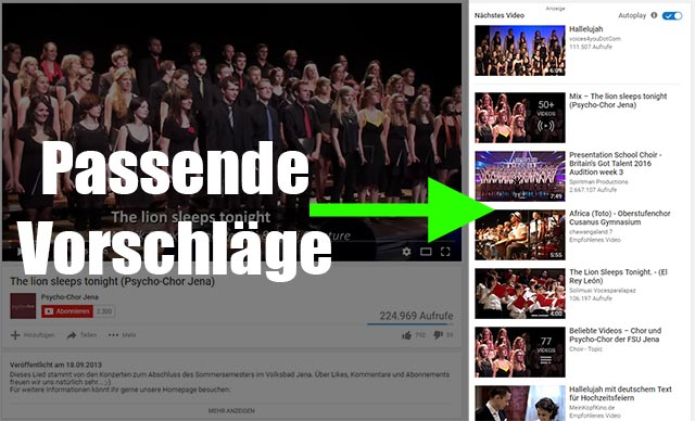 YouTube Videovorschläge