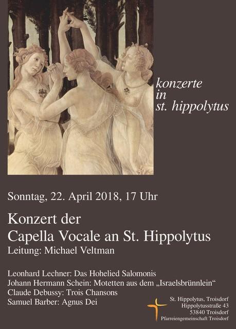 Capella Vocale Konzerthinweis