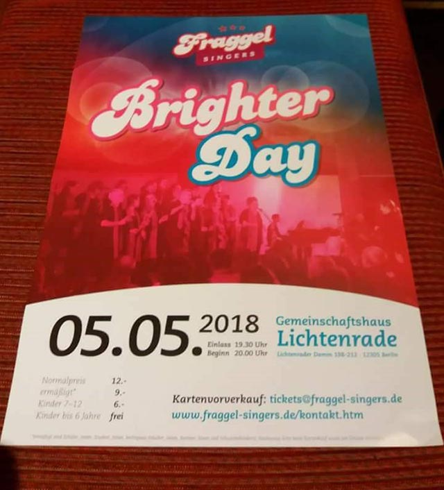 Fraggel Brighter Day Ticket
