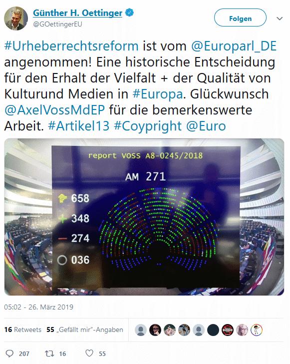 Oettingers Kompetenz-Tweet